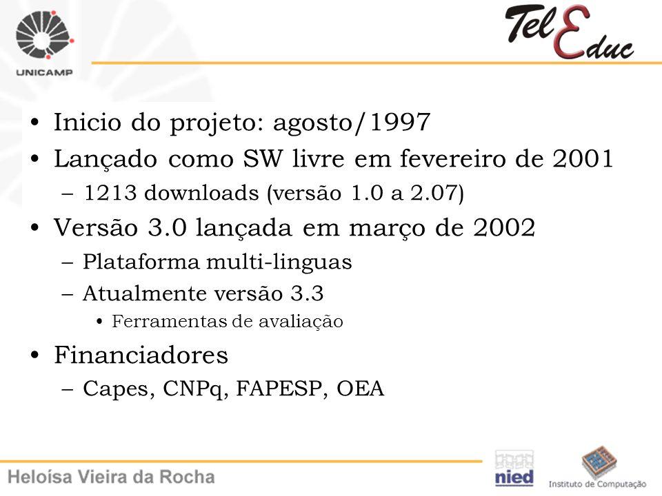 Inicio do projeto: agosto/1997