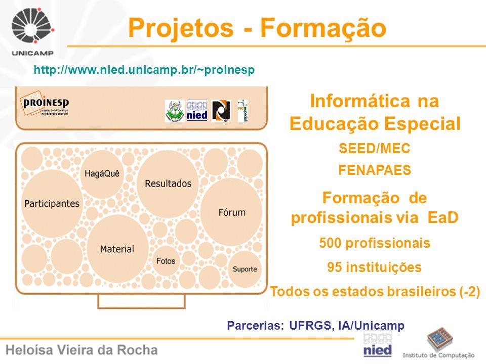 Projetos - Formação Informática na Educação Especial