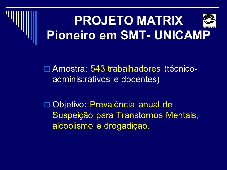 PROJETO MATRIX Pioneiro em SMT- UNICAMP