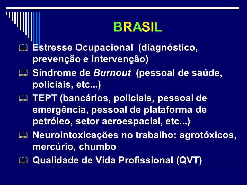 BRASIL Estresse Ocupacional (diagnóstico, prevenção e intervenção)