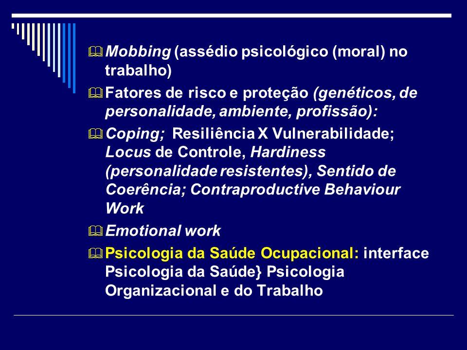Mobbing (assédio psicológico (moral) no trabalho)