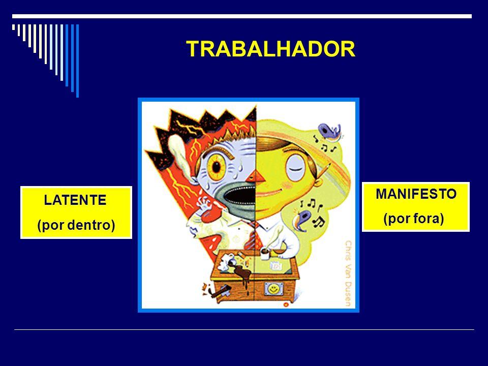 TRABALHADOR MANIFESTO (por fora) LATENTE (por dentro)
