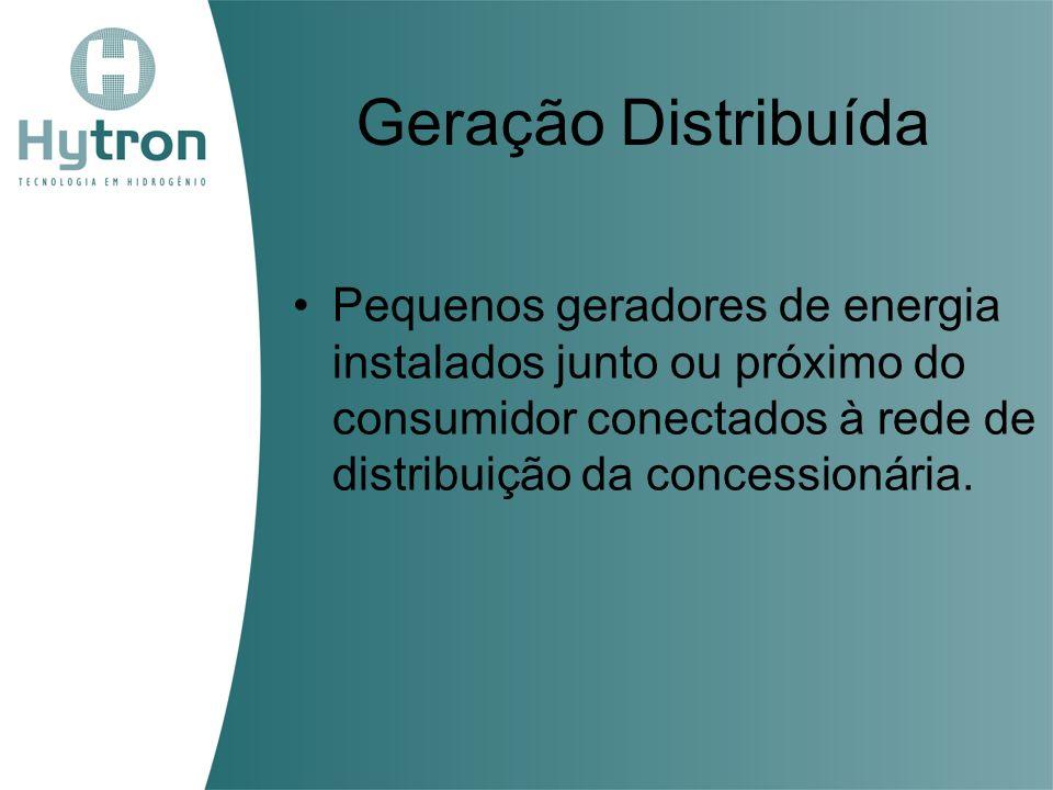 Geração Distribuída Pequenos geradores de energia instalados junto ou próximo do consumidor conectados à rede de distribuição da concessionária.