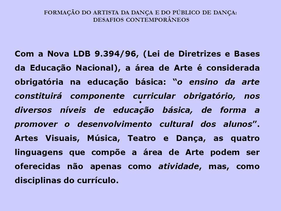 FORMAÇÃO DO ARTISTA DA DANÇA E DO PÚBLICO DE DANÇA: