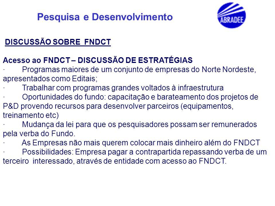 DISCUSSÃO SOBRE FNDCT Acesso ao FNDCT – DISCUSSÃO DE ESTRATÉGIAS.