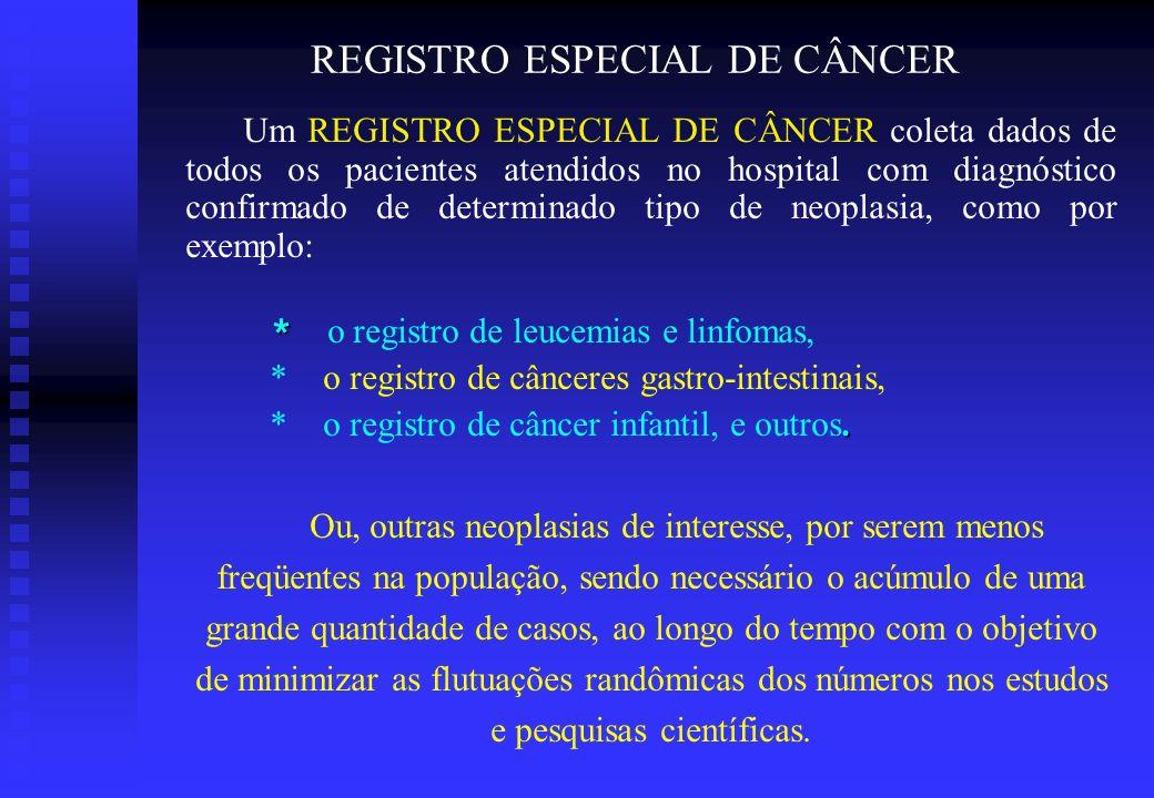 REGISTRO ESPECIAL DE CÂNCER
