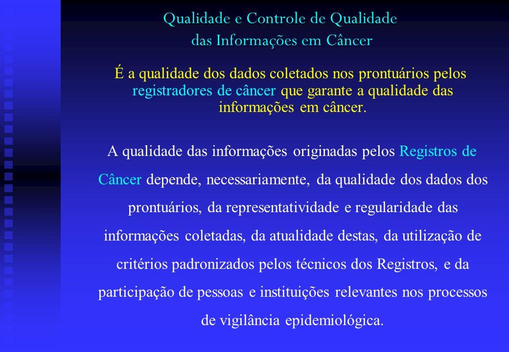 Qualidade e Controle de Qualidade das Informações em Câncer