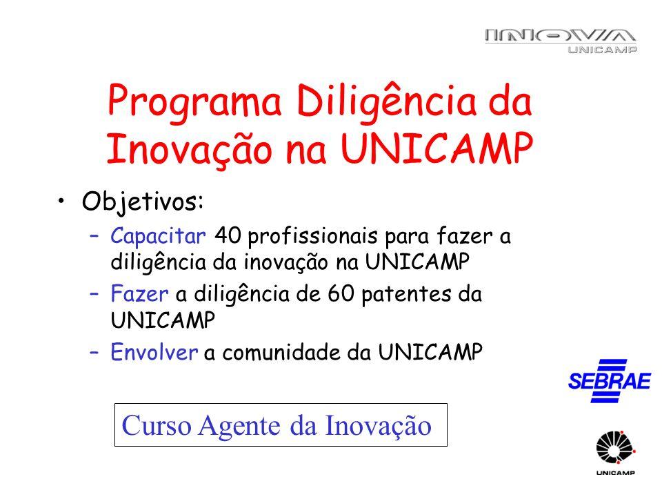 Programa Diligência da Inovação na UNICAMP