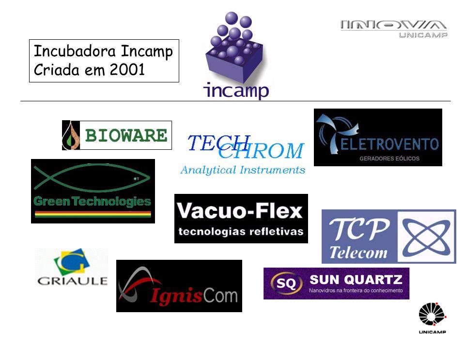 Incubadora Incamp Criada em 2001