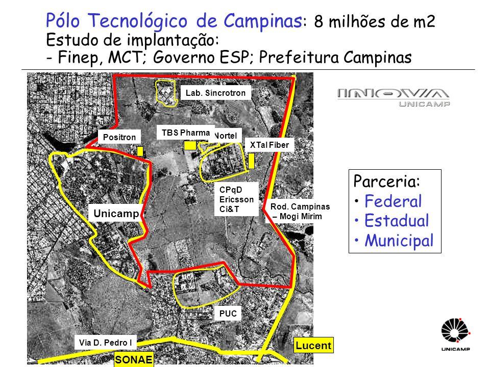Pólo Tecnológico de Campinas: 8 milhões de m2