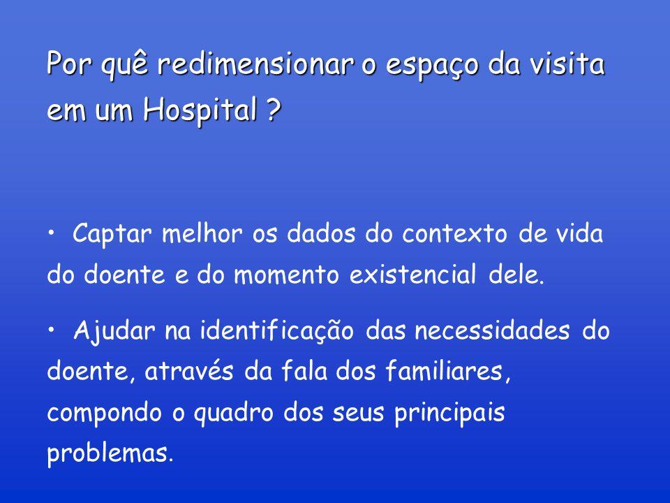 Por quê redimensionar o espaço da visita em um Hospital