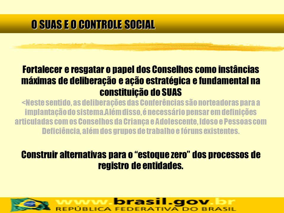 O SUAS E O CONTROLE SOCIAL