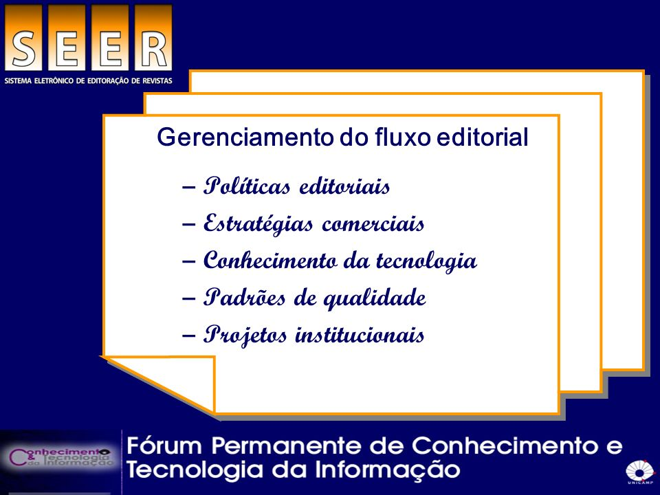 Gerenciamento do fluxo editorial