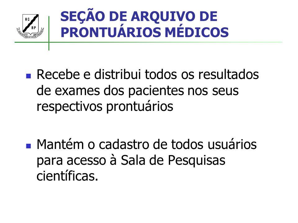SEÇÃO DE ARQUIVO DE PRONTUÁRIOS MÉDICOS