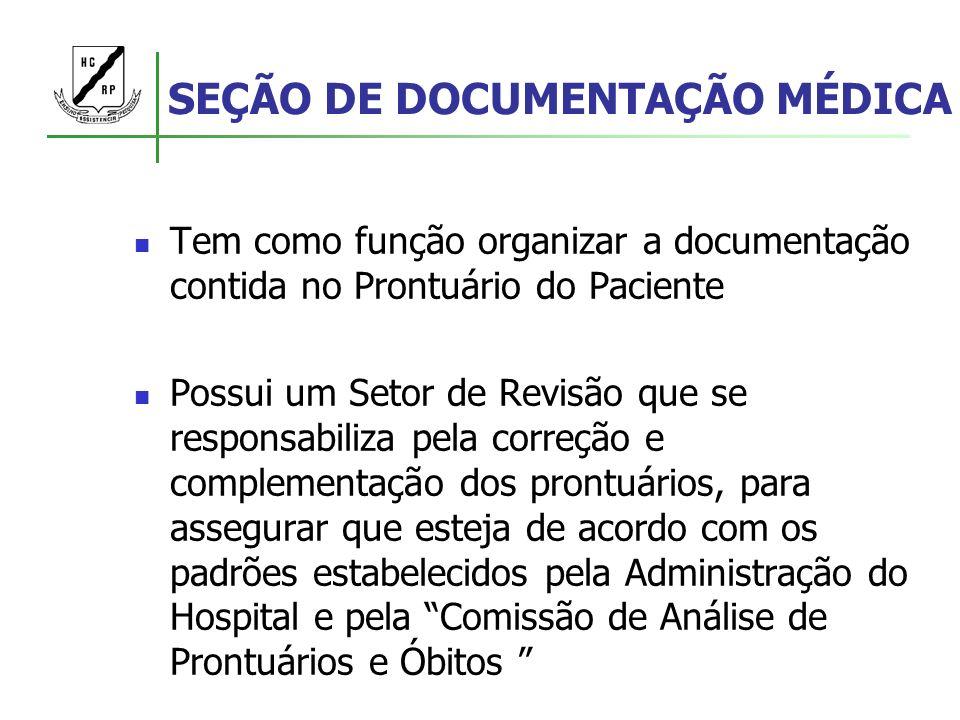 SEÇÃO DE DOCUMENTAÇÃO MÉDICA