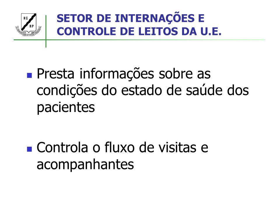 SETOR DE INTERNAÇÕES E CONTROLE DE LEITOS DA U.E.