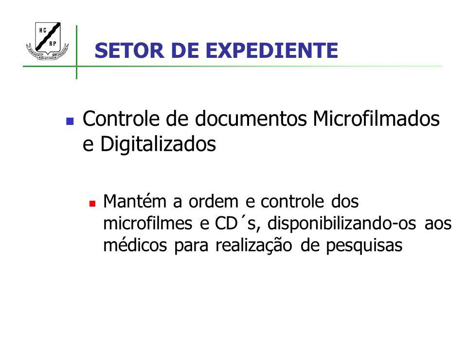 Controle de documentos Microfilmados e Digitalizados