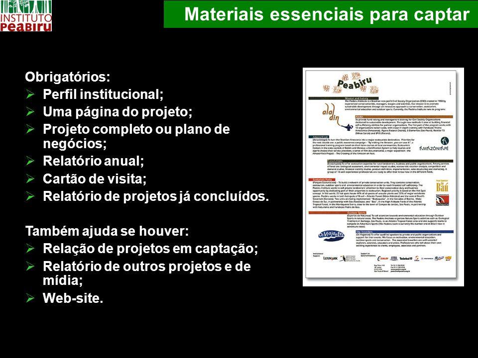 Materiais essenciais para captar
