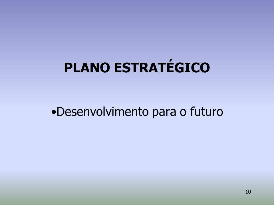 Desenvolvimento para o futuro