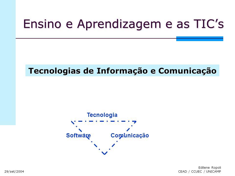 Ensino e Aprendizagem e as TIC's