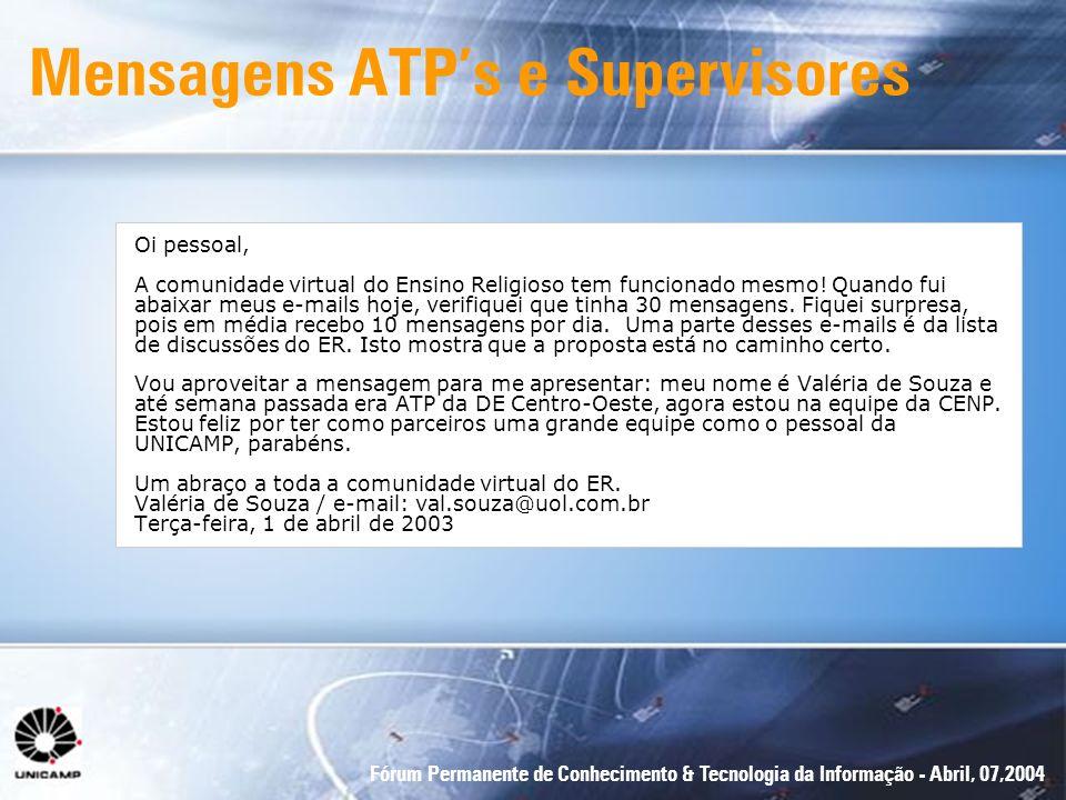 Mensagens ATP's e Supervisores