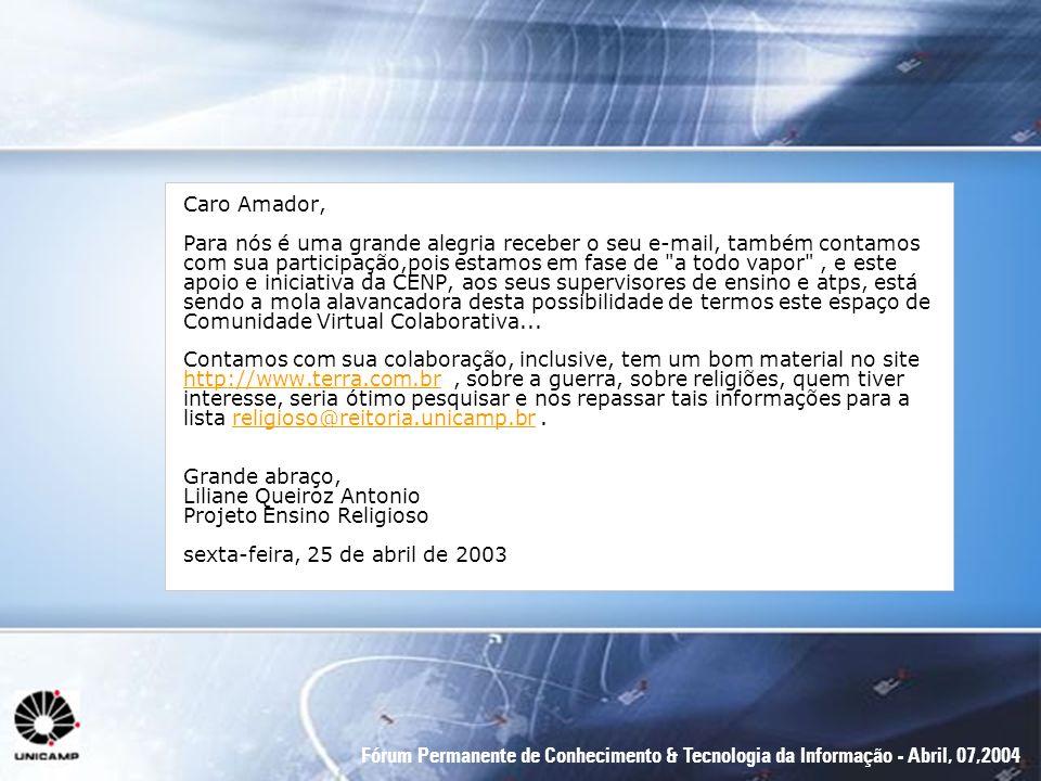 Caro Amador,