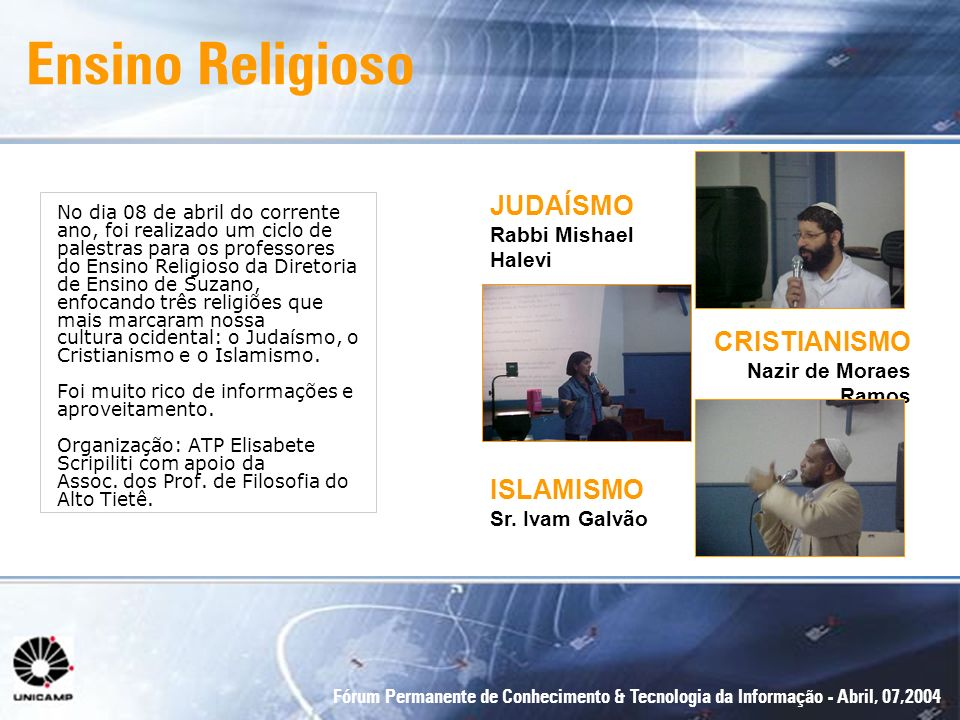 Ensino Religioso JUDAÍSMO Rabbi Mishael Halevi