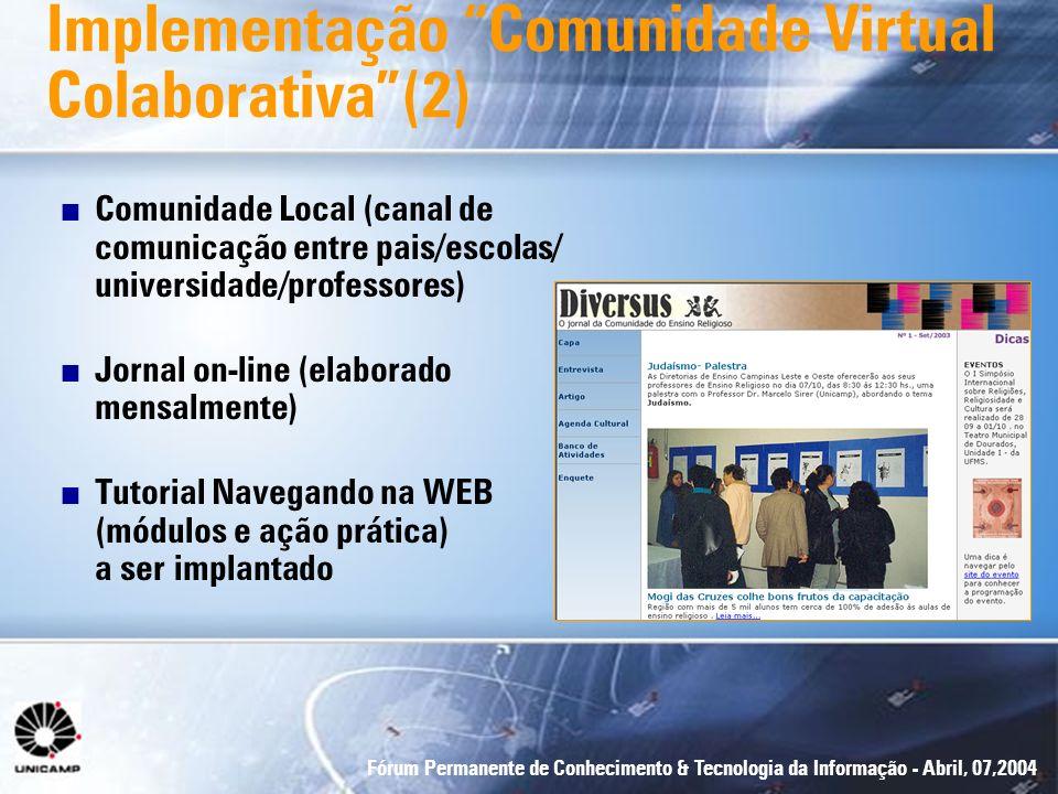 Implementação Comunidade Virtual Colaborativa (2)