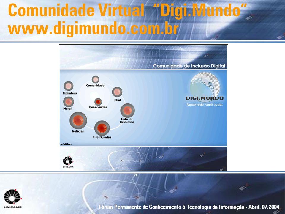 Comunidade Virtual Digi.Mundo www.digimundo.com.br
