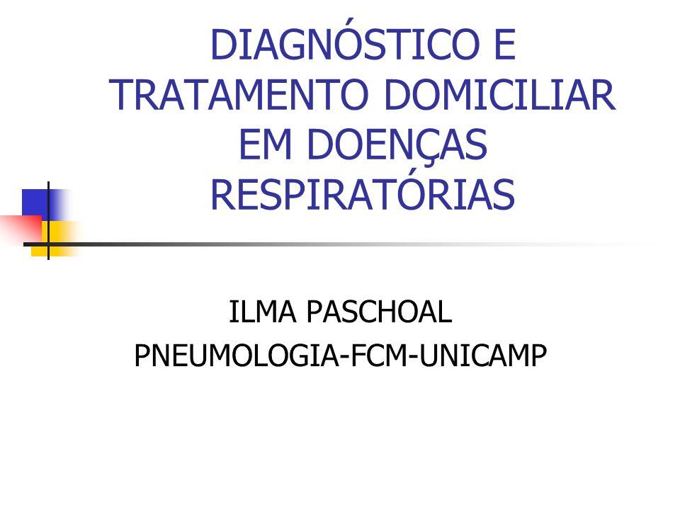 DIAGNÓSTICO E TRATAMENTO DOMICILIAR EM DOENÇAS RESPIRATÓRIAS
