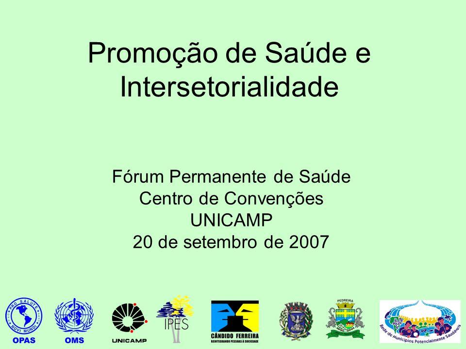 Promoção de Saúde e Intersetorialidade