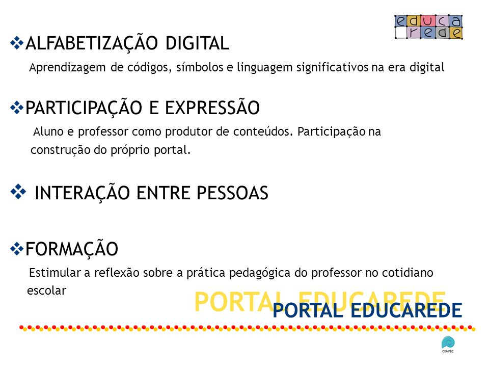 PORTAL EDUCAREDE INTERAÇÃO ENTRE PESSOAS PORTAL EDUCAREDE