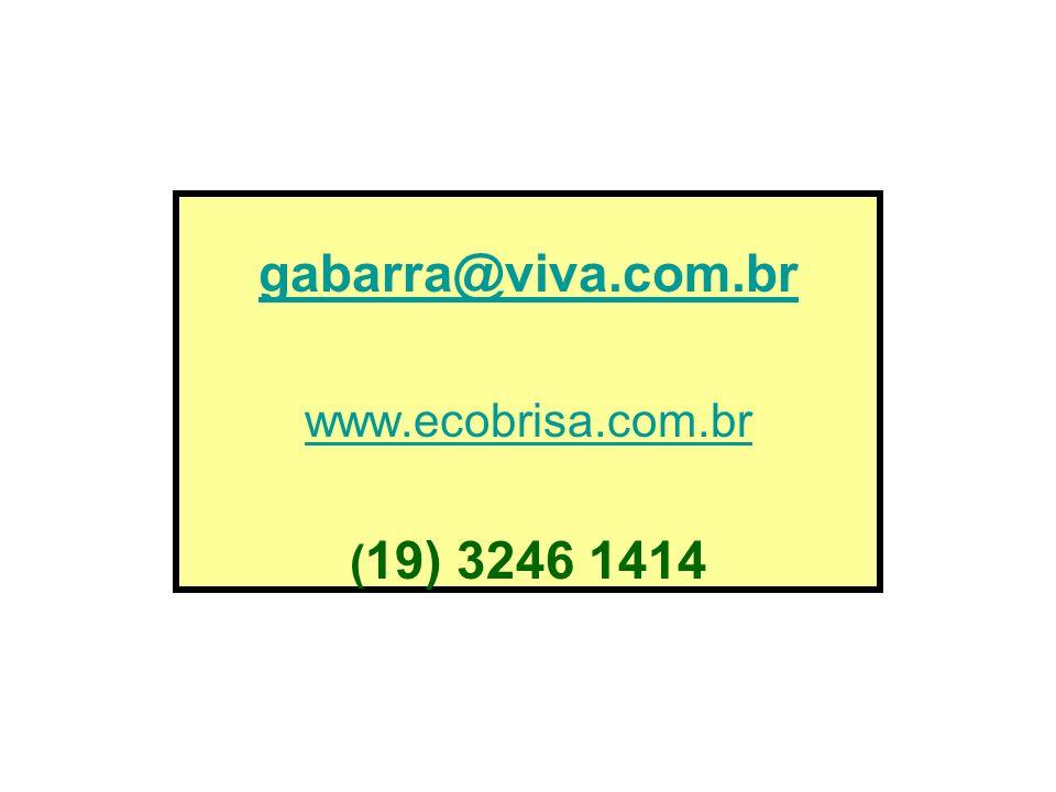 gabarra@viva.com.br www.ecobrisa.com.br (19) 3246 1414