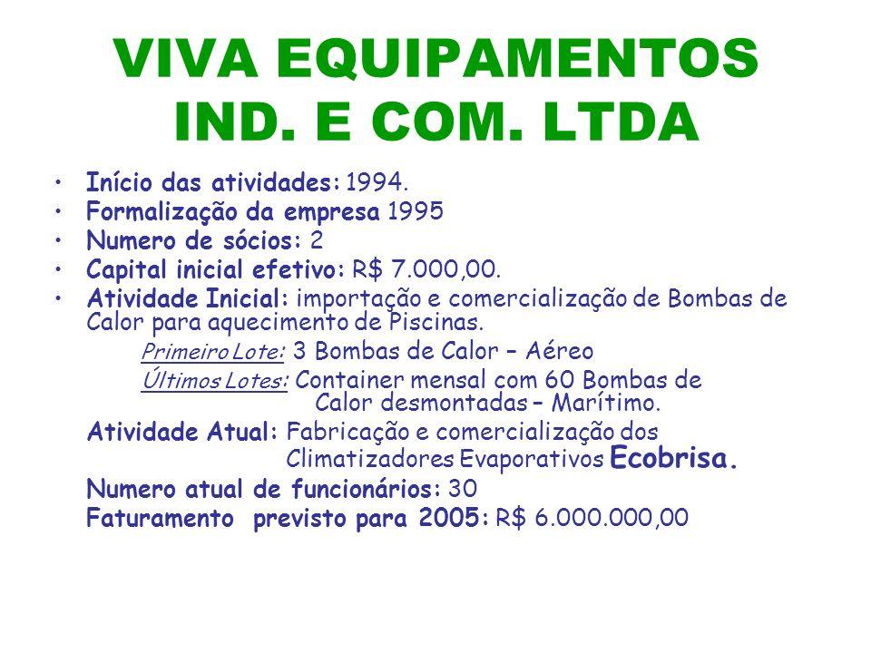 VIVA EQUIPAMENTOS IND. E COM. LTDA