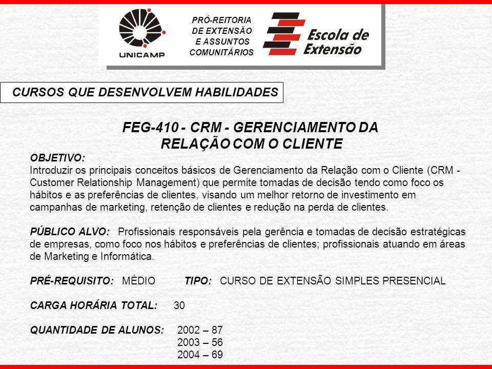 FEG-410 - CRM - GERENCIAMENTO DA