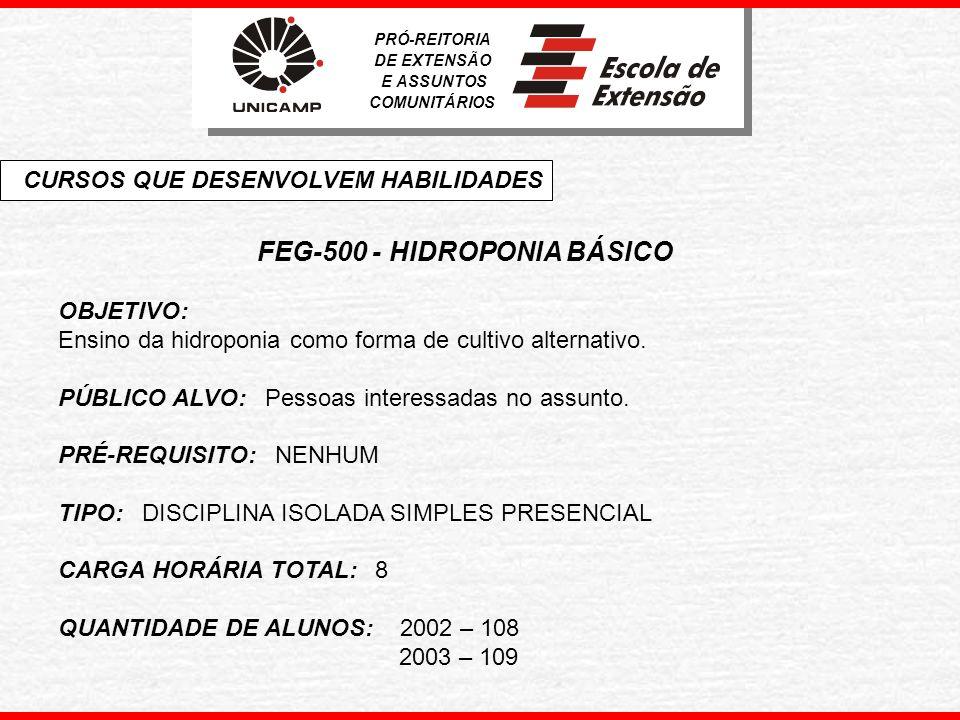 FEG-500 - HIDROPONIA BÁSICO