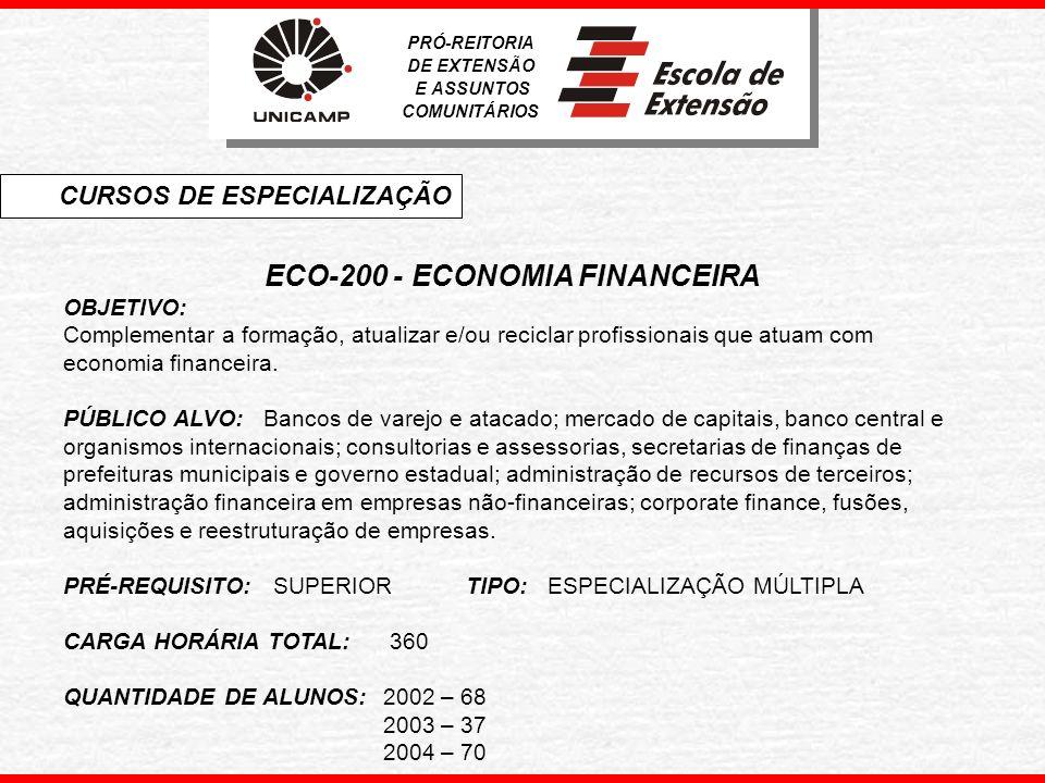ECO-200 - ECONOMIA FINANCEIRA