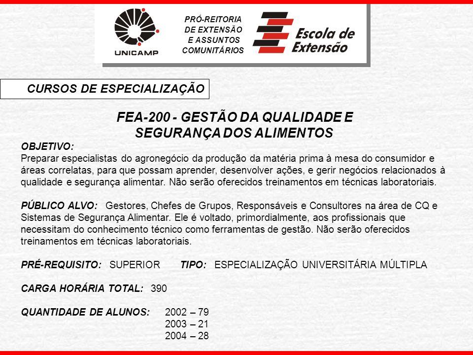 FEA-200 - GESTÃO DA QUALIDADE E
