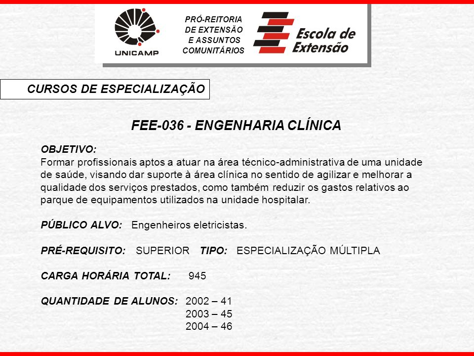 FEE-036 - ENGENHARIA CLÍNICA