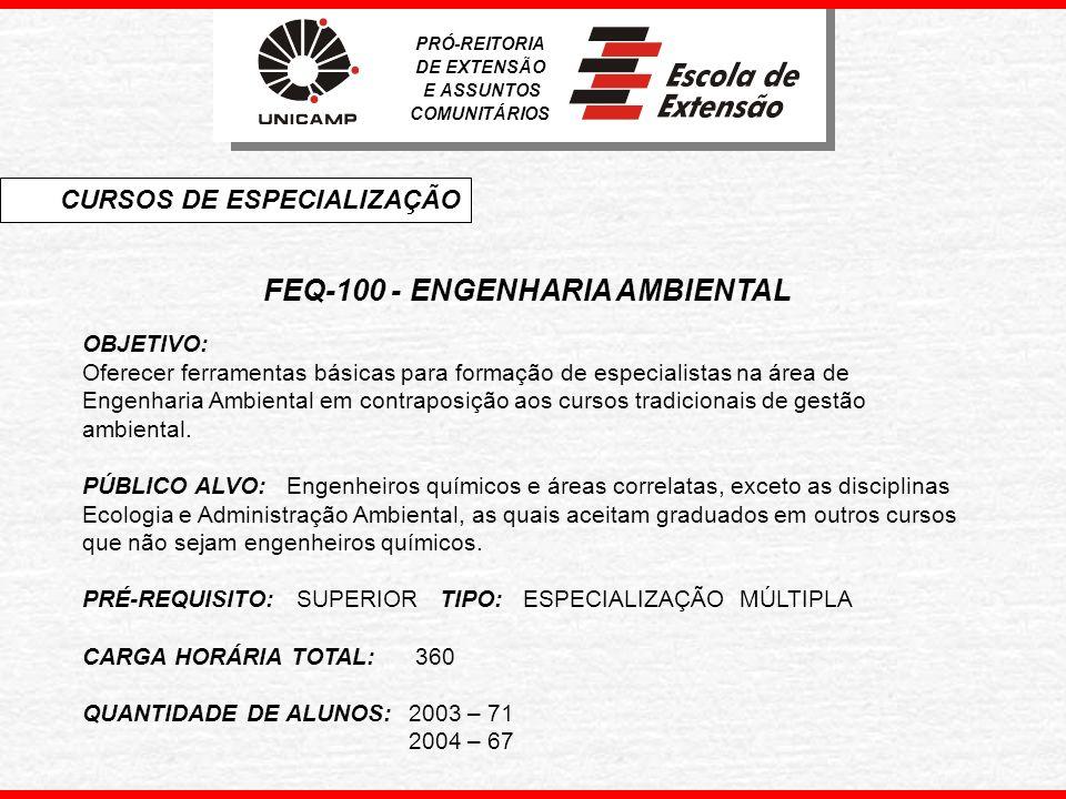 FEQ-100 - ENGENHARIA AMBIENTAL