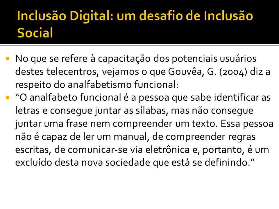 Inclusão Digital: um desafio de Inclusão Social