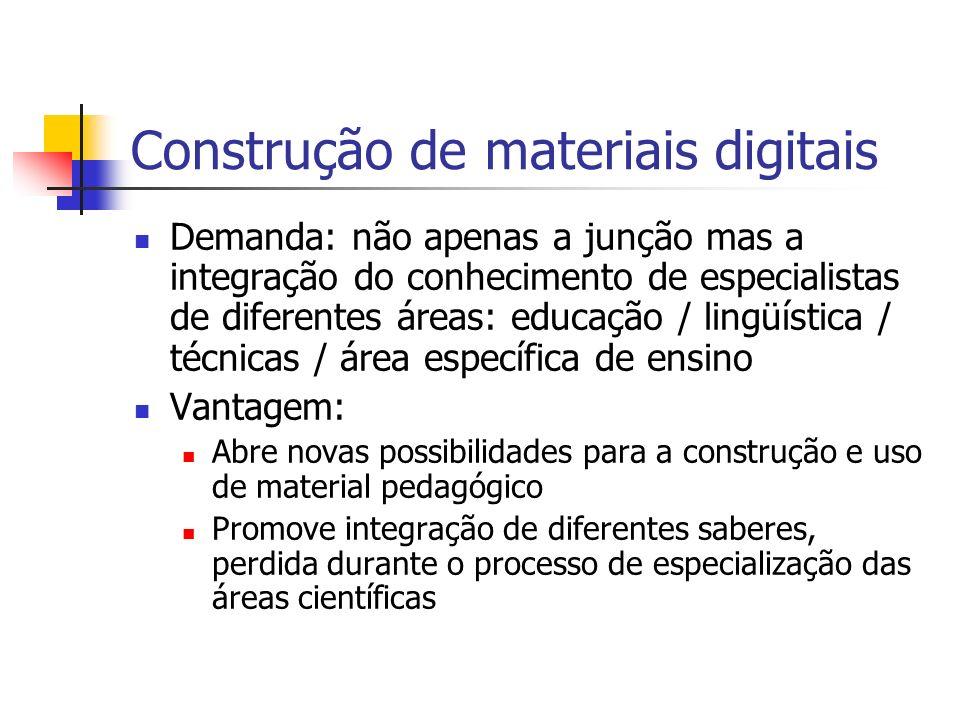 Construção de materiais digitais