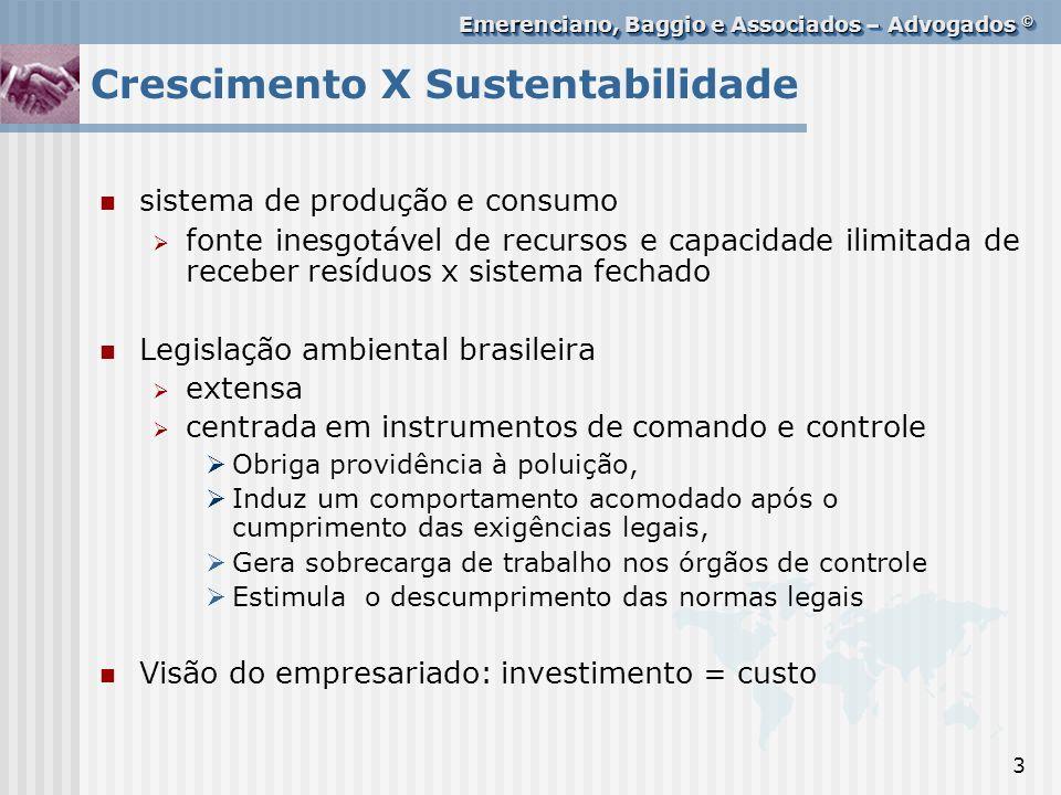 Crescimento X Sustentabilidade