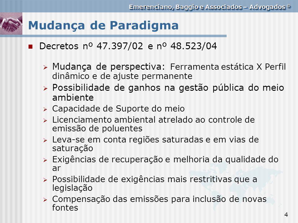 Mudança de Paradigma Decretos nº 47.397/02 e nº 48.523/04