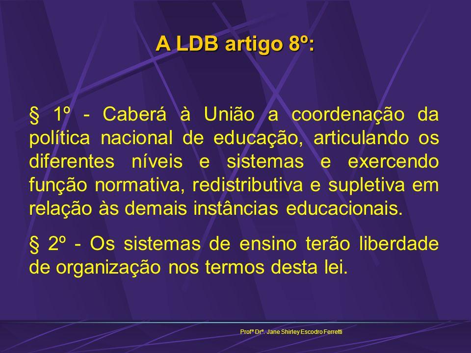 A LDB artigo 8º:
