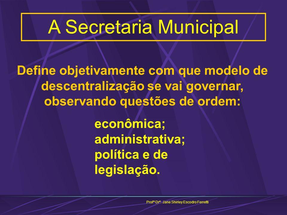 A Secretaria Municipal