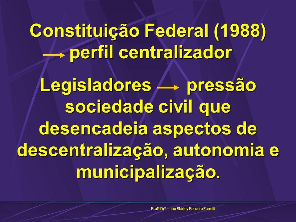 Constituição Federal (1988) perfil centralizador