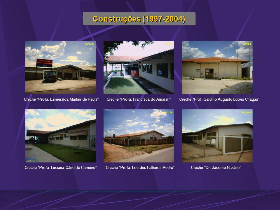 Construções (1997-2004) Creche Profa. Esmeralda Martini de Paula