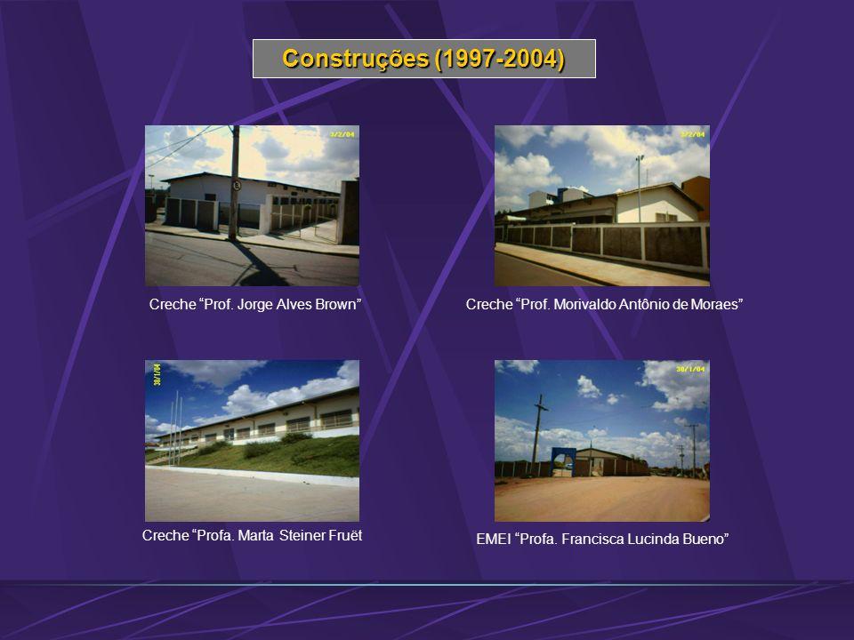 Construções (1997-2004) Creche Prof. Jorge Alves Brown