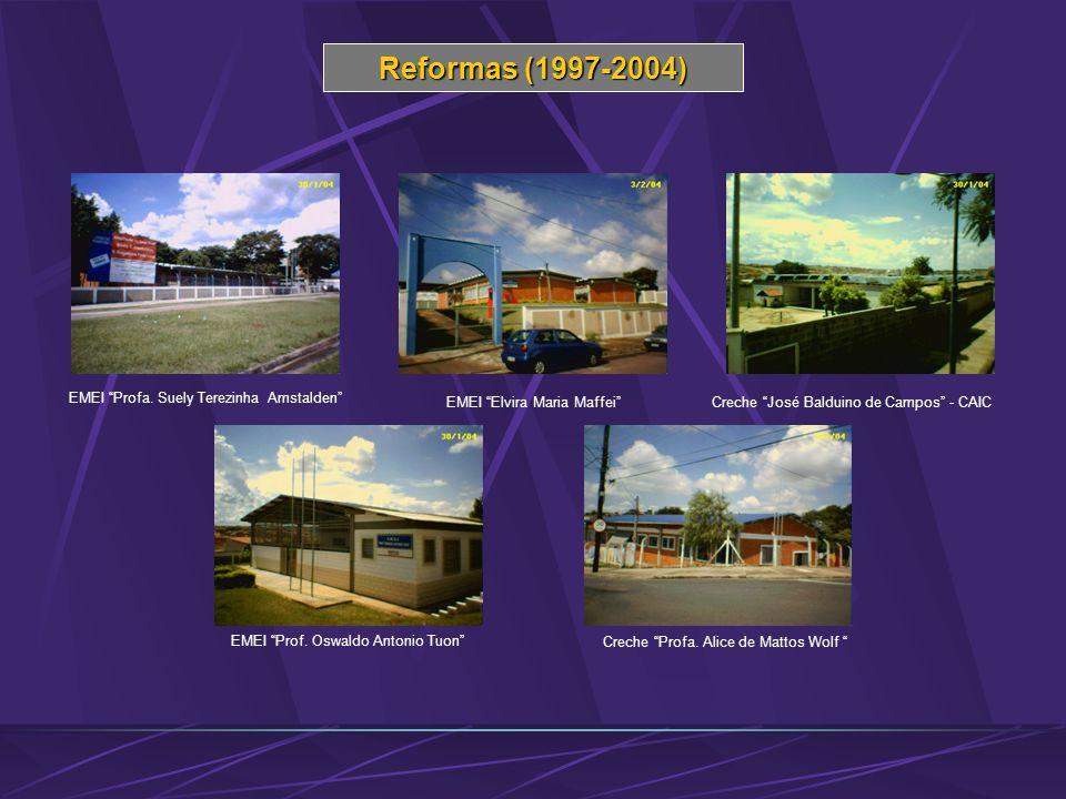 Reformas (1997-2004) EMEI Profa. Suely Terezinha Amstalden